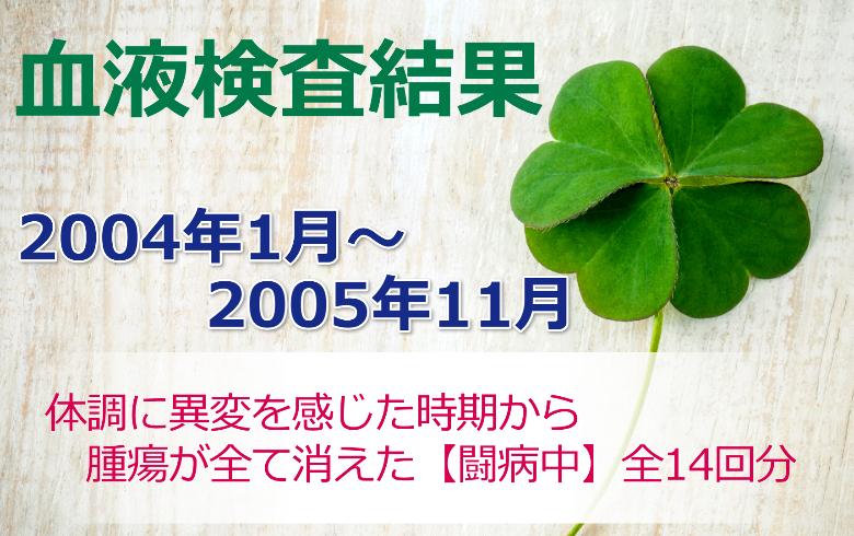 笹野富美夫血液検査(200401-200511):肝臓がん末期闘病記