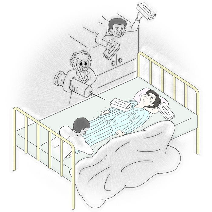 病室で幽霊体験をする:肝臓がん末期闘病記
