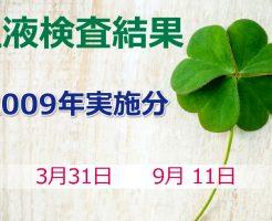 笹野富美夫血液検査(2009年実施分):肝臓がん末期闘病記