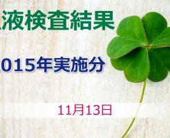 笹野富美夫血液検査(2015年実施分):肝臓がん末期闘病記